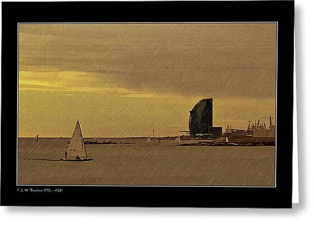 Sails Greeting Card by Pedro L Gili