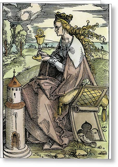 Saint Barbara (c200 Greeting Card