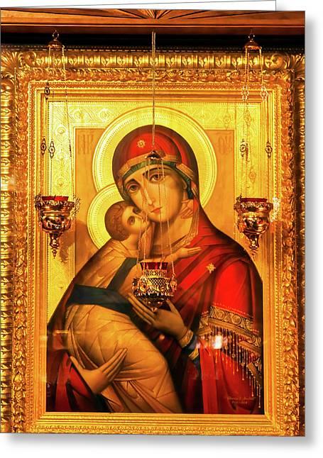 Saint Barbara, Saint Michael Cathedral Greeting Card