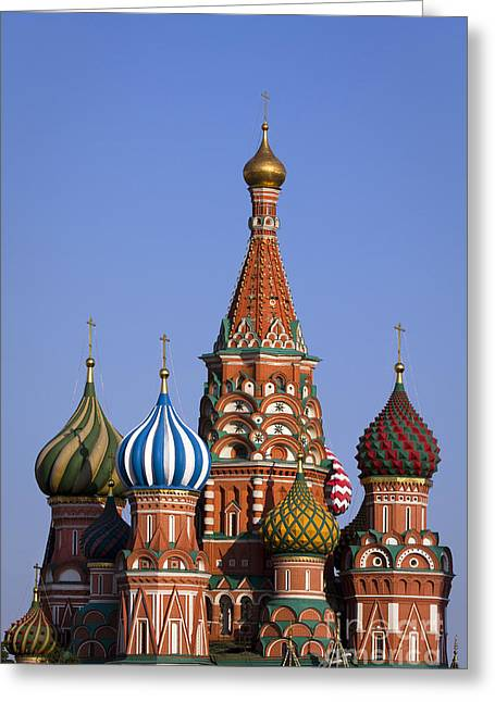 Saint Basil's Cathedral Greeting Card by Maurizio Bacciarini