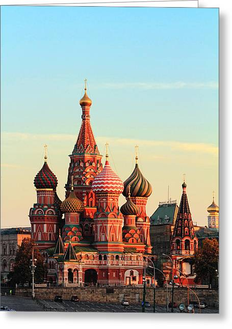 Saint Basils Cathedral On Red Square Greeting Card