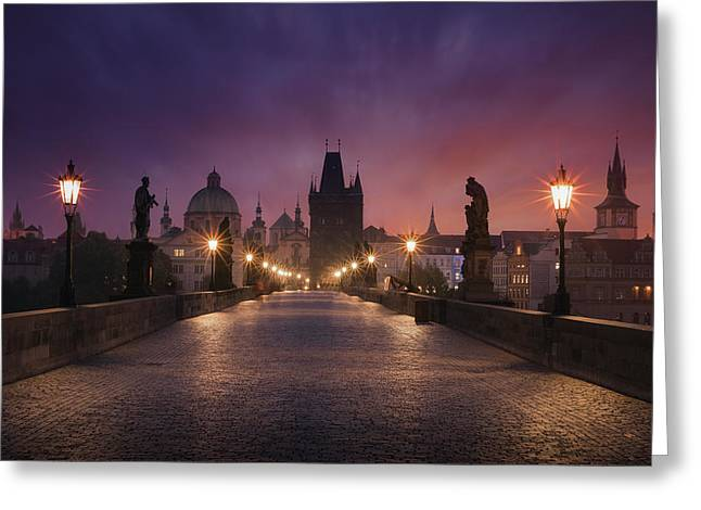 Saint Charles Bridge, Prague Greeting Card by Inigo Cia