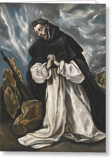 Saint Dominic In Prayer Greeting Card