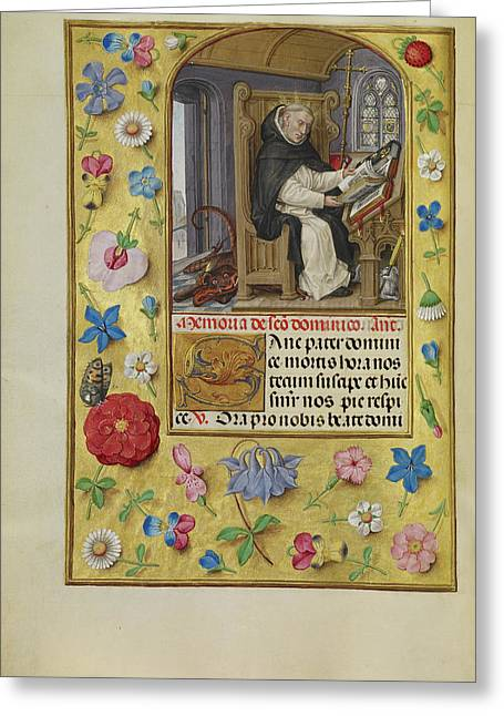 Saint Dominic Master Of James Iv Of Scotland, Flemish Greeting Card
