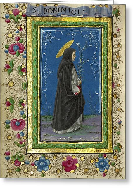 Saint Dominic Taddeo Crivelli, Italian, Died About 1479 Greeting Card