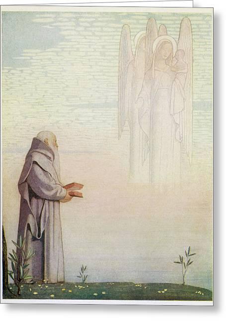 Saint Dunstan, Abbot Of Glastonbury Greeting Card