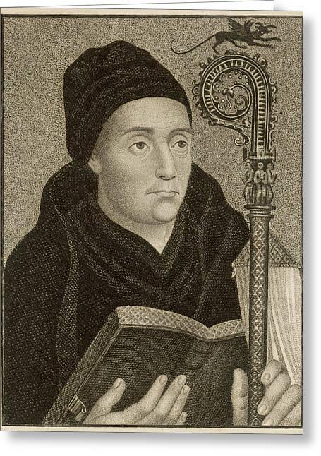 Saint Dunstan  Archbishop Of Canterbury Greeting Card