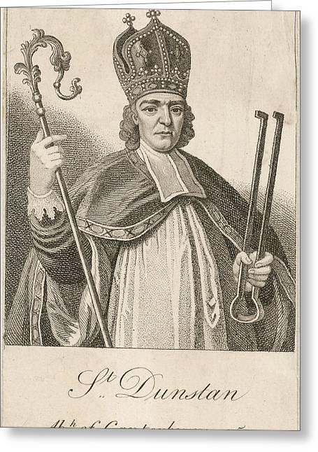 Saint Dunstan, Archbishop Of Greeting Card