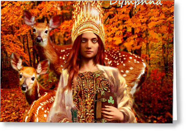 Saint Dymphna Greeting Card