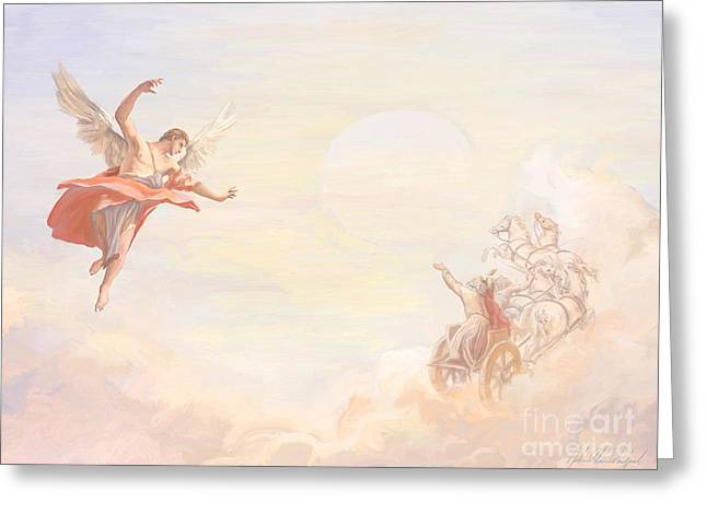 Saint Elijah Ascending Greeting Card by John Alan  Warford