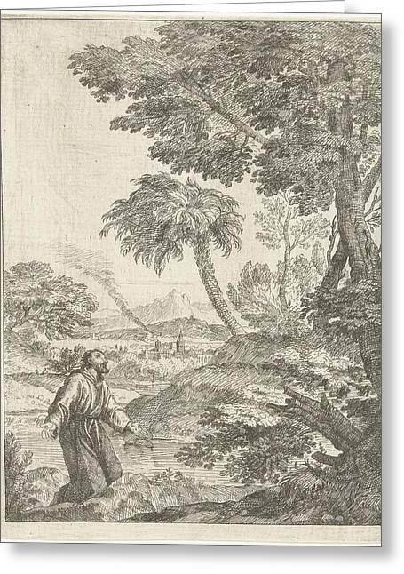 Saint Francis, Adriaen Van Der Kabel Greeting Card by Adriaen Van Der Kabel