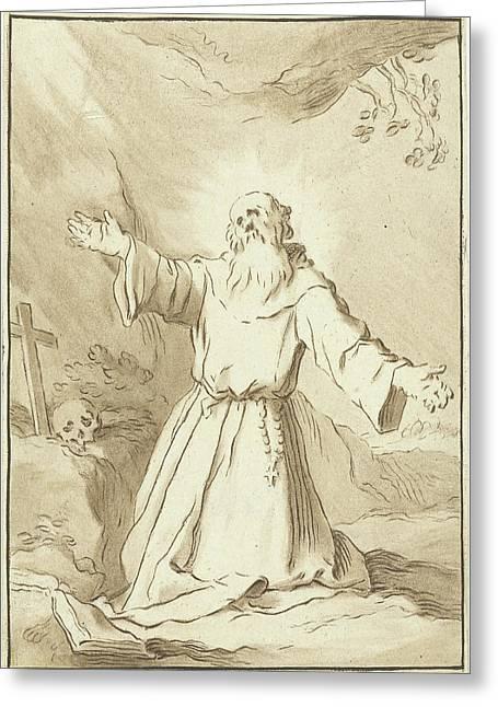 Saint Francis, Jurriaan Cootwijck Greeting Card by Jurriaan Cootwijck