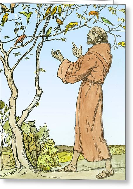Saint Francis Of Assisi Greeting Card by Hellmut Eichrodt