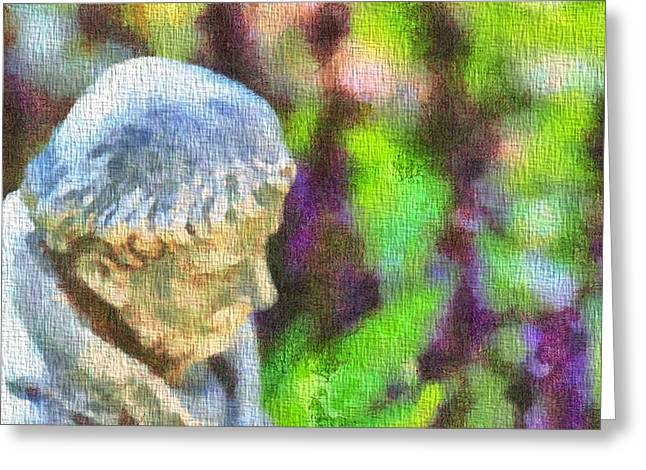Saint Francis Of Assisi In The Garden Greeting Card by Dan Sproul
