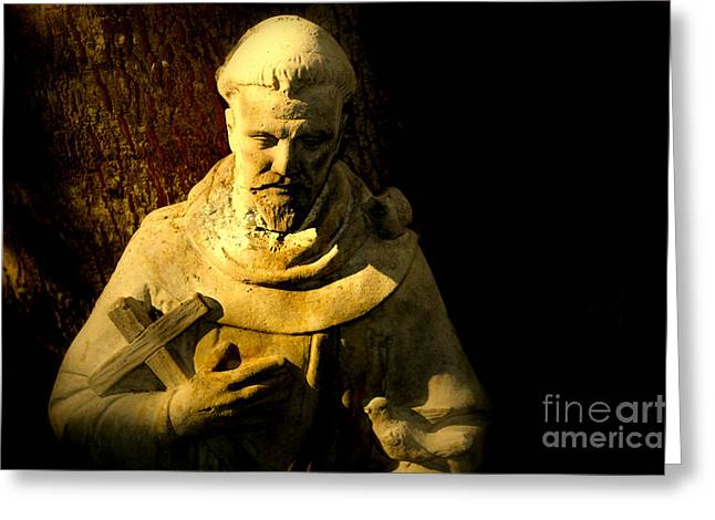Saint Francis Greeting Card by Susanne Van Hulst
