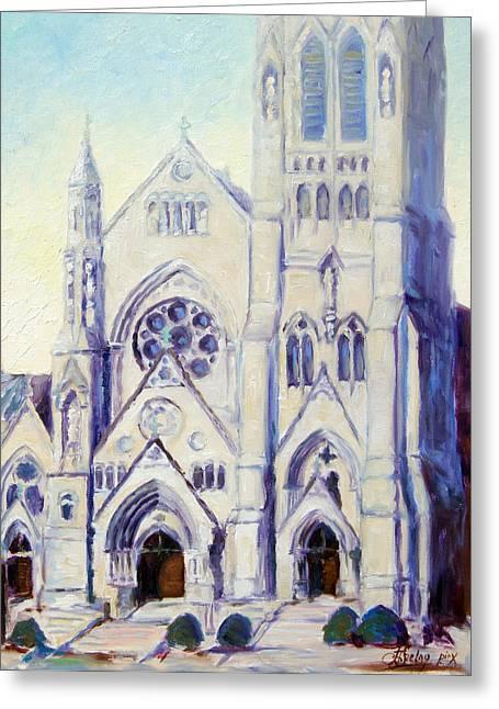 Saint Francis Xaviere College Church - St.louis Greeting Card by Irek Szelag