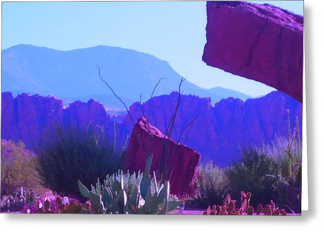 Greeting Card featuring the photograph Saint George Rocks by Ann Johndro-Collins