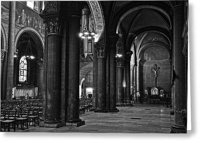Saint Germain Des Pres - Paris Greeting Card by RicardMN Photography