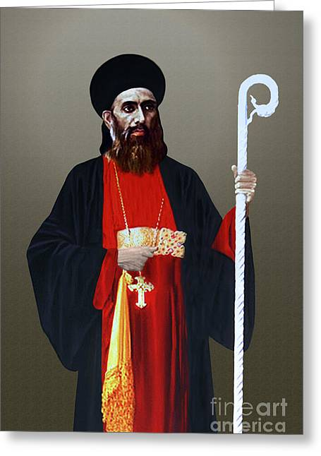 Saint Gregorios Of Parumala Greeting Card by A Samuel