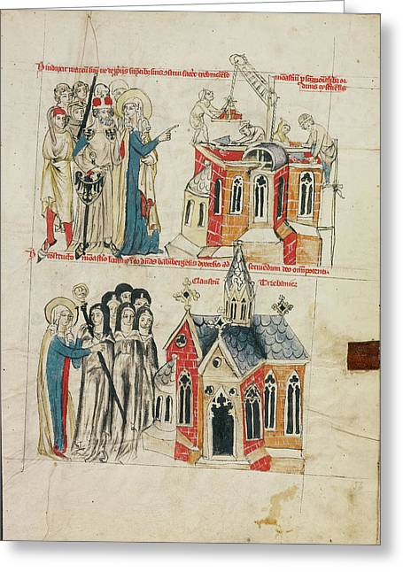 Saint Hedwig And The New Convent,  Nuns From Bamberg Greeting Card