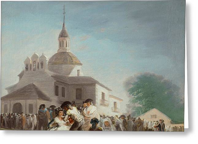 Saint Isidore's Day At The Saint's Hermitage Greeting Card by Francisco Goya
