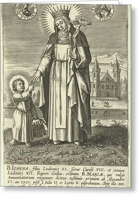 Saint Joan Of France, Adriaen Collaert Greeting Card by Adriaen Collaert