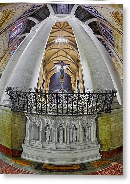 Saint John The Divine Rear Altar View Greeting Card by Susan Candelario