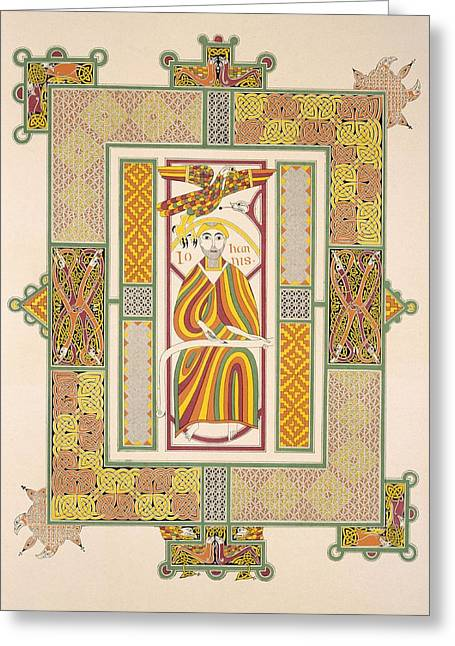 Saint John The Evangelist Greeting Card by Irish School
