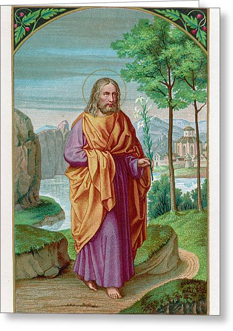 Saint Joseph Husband Of Mary, And Greeting Card by Mary Evans Picture Library