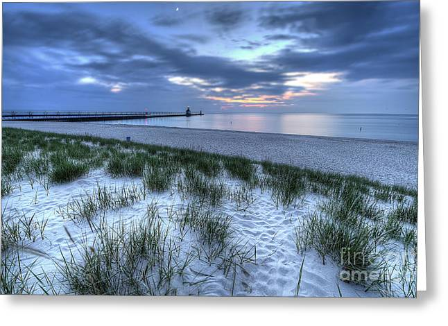 Saint Joseph Michigan Lighthouse Greeting Card by Twenty Two North Photography
