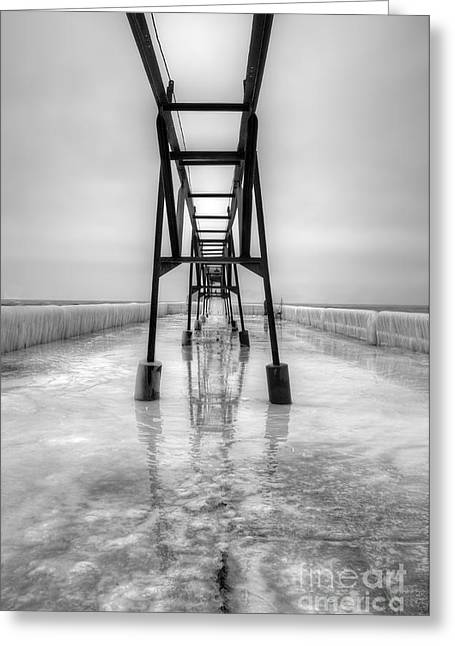 Saint Joseph Michigan Pier Greeting Card by Twenty Two North Photography