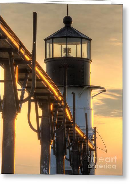 Saint Joseph Outer Range Light Greeting Card by Twenty Two North Photography