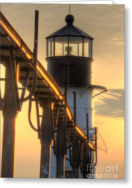 Saint Joseph Outer Range Lighthouse Greeting Card by Twenty Two North Photography