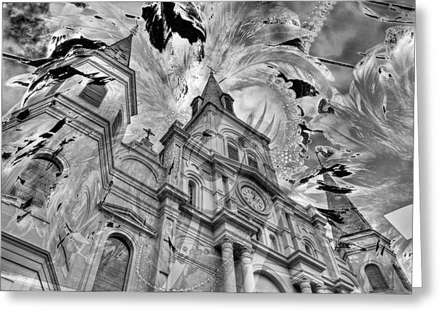 Greeting Card featuring the photograph Saint Louis Cathedral And Spirits by Ron White