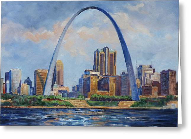 Saint Louis Skyline 2 Greeting Card by Irek Szelag