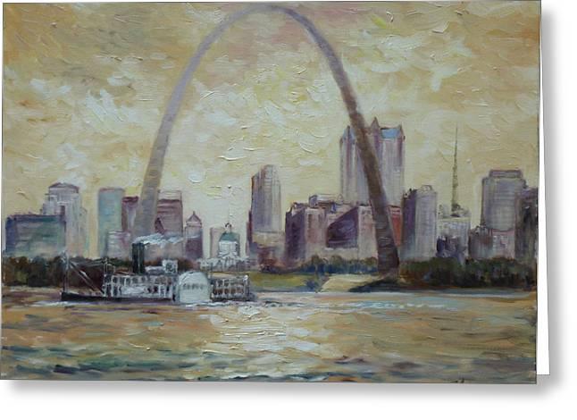 Saint Louis Skyline Greeting Card by Irek Szelag