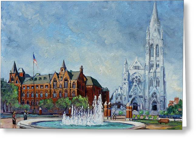 Saint Louis University And College Church Greeting Card