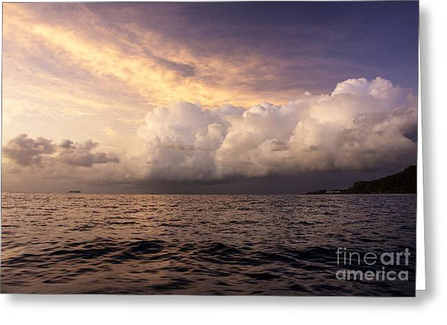 Saint Lucian Sunset Greeting Card by Rafael Quirindongo