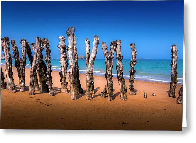 Saint Malo Beach Greeting Card by Martin Velebil