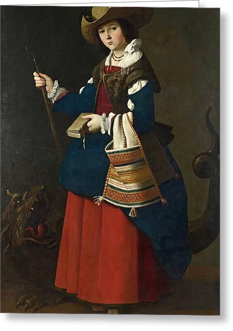 Saint Margaret Of Antioch Greeting Card