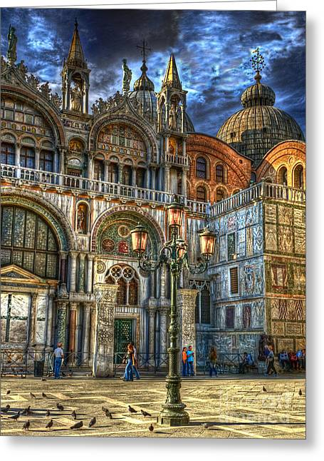 Saint Marks Square Greeting Card by Jerry Fornarotto