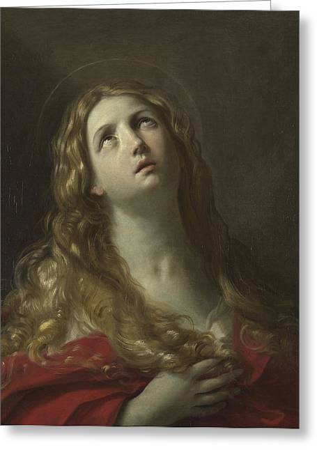 Saint Mary Magdalene Greeting Card by Guido Reni
