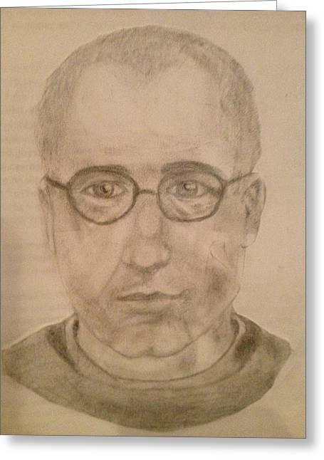 Saint Maximillian Kolbe Greeting Card by Noah Burdett