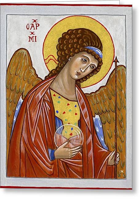 Saint Michael Archangel Greeting Card by Raffaella Lunelli