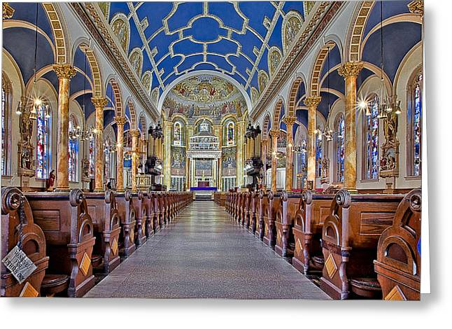 Saint Michael Catholic Church Greeting Card by Susan Candelario