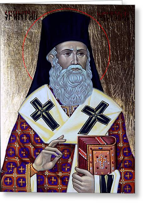 Saint Nectarios Greeting Card