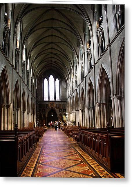 Saint Patrick's Cathedral Interior Dublin Greeting Card