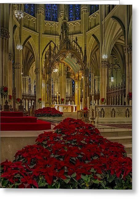 Saint Patricks Cathedral Greeting Card by Susan Candelario