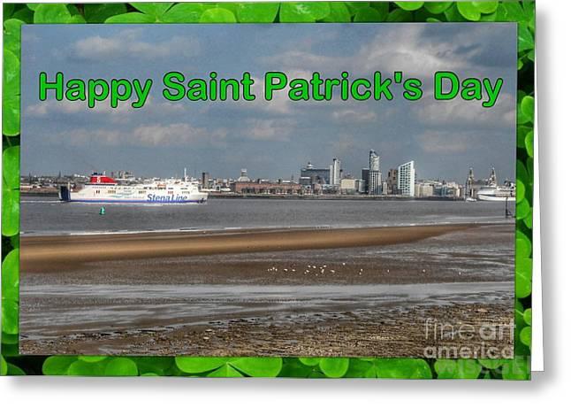 Saint Patrick's Greeting Across The Mersey Greeting Card