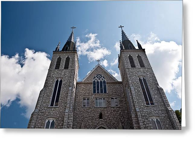 Greeting Card featuring the photograph Saint Paul Cathedral In Midland Ontario by Marek Poplawski